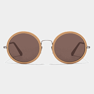 Brown Round Sunglasses