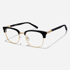 Eyeglass Gold Black Frame
